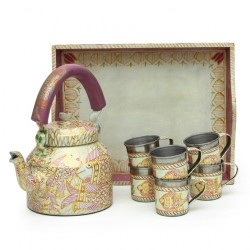 KAUSHALAM TEA SET: PINK POND