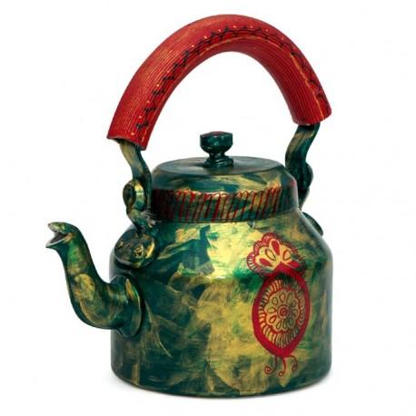 KAUSHALAM 8 PC TEA SET: GREEN GLAMOUR