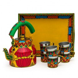 KAUSHALAM TEA SET: LOTUS