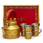 KAUSHALAM 8 PC TEA SET: GOLDEN GLOW