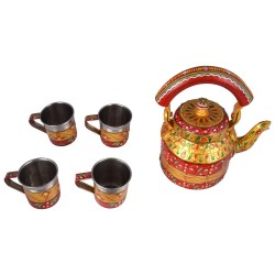 KAUSHALAM TEA SET: GOLDEN GLOW lll (4 Cups)