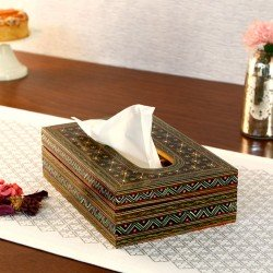 KAUSHALAM TISSUE BOX: BLACK