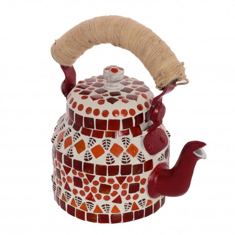 KAUSHALAM MOSAIC TEA KETTLE SMALL: RED
