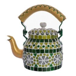 KAUSHALAM MOSAIC TEA KETTLE SMALL: GREEN