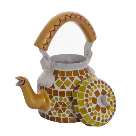 KAUSHALAM MOSAIC TEA KETTLE SMALL: AMBER YELLOW