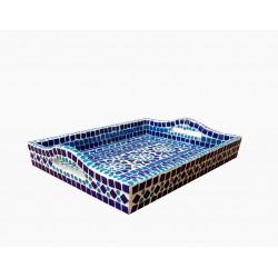 KAUSHALAM MOSAIC LARGE TRAY: BLUE