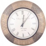 Vintage Colonial Wall Clock Brass Embossed 18 inch
