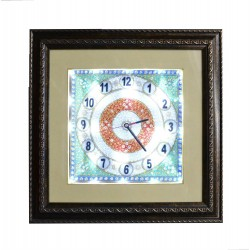 Ethnic Wall Clock With Light and Gemstones