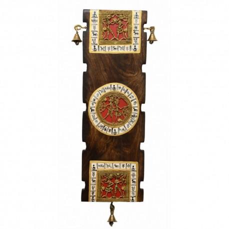 Wooden Bastar Art Dokra Wall Hanging