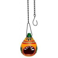 Terracotta Hanging T Light Holder
