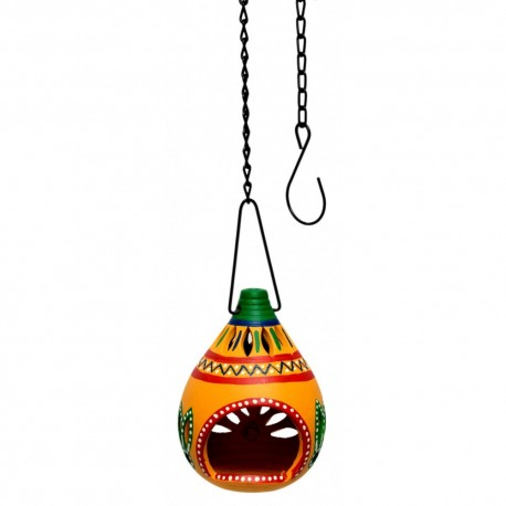 Terracotta Hanging T Light Holder