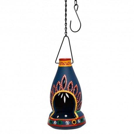 Terracotta Bottle Shape T Light Holder