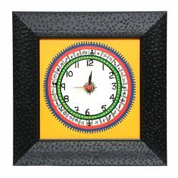 Traditional Bastar Art Wooden Clock