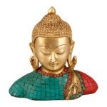 Brass and Turquoise Stone Buddha Figurine