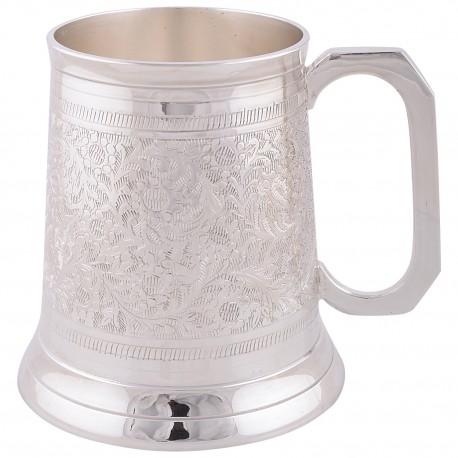 German Silver Beer Mug