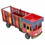 Wooden Painted Miniature Truck Lorry