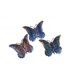 Wrought Iron Butterfly Wall Décor Set/3