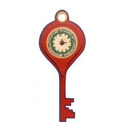 Bastar Art Ethnic Key Shape Wall Clock
