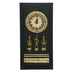 Dokra And Bastar Art Wall Clock