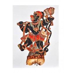 Togalu Gombe Atta ( Leather Puppetry ) Painting