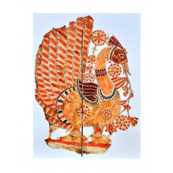 Togalu Gumbe Atta ( Leather Puppetry ) Painting