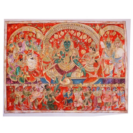 Rama Pattabhisheka Painting on canvas