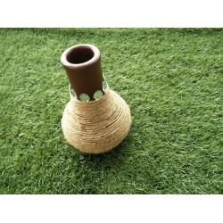 Handpainted Terracotta Vase Twine Design
