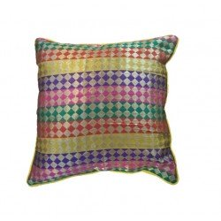 Multi Colour Brocade Cushion Cover