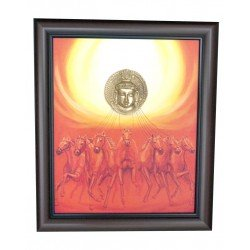 Surya  Dev With Seven Horse Canvas Painting