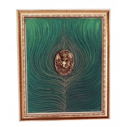 Krishna Canvas Painting With Brass Krishna