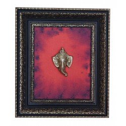 Brass Ganesha Head Ganesha Canvas Painting