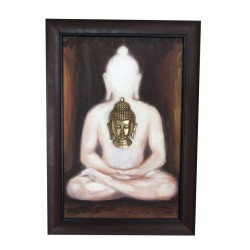 Buddha Under Mahabodhi Tree Canvas Painting