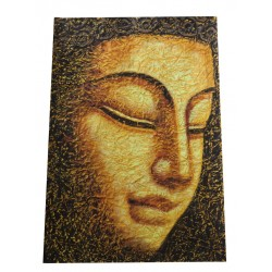 Buddha Painting on Crush Paper Drybrush Painting