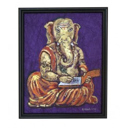 Dry Brush Ganesha Painting on Crush Paper
