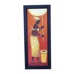 Ethnic Village Lady Canvas Painting