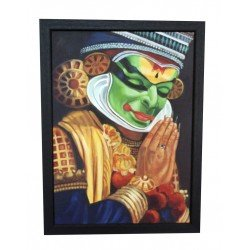 Kathakalli Dancer Handmade Canvas Painting