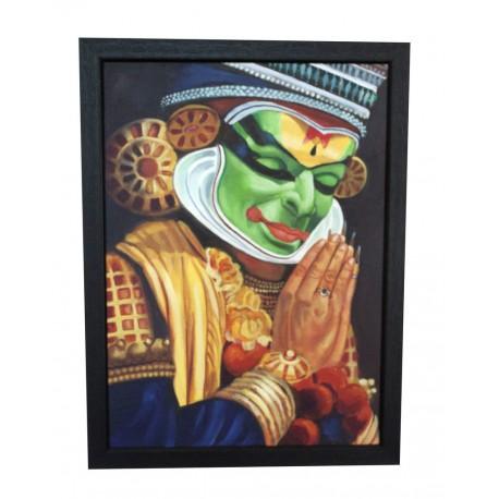 Kathakalli Dancer Handmade Canvas Painting