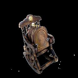 Wooden Sheesham Wood Chair Design Six Tea Coaster Set