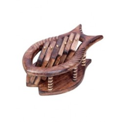 Wooden Sheesham Wood Fish Shape Coaster Set
