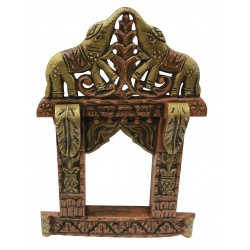 Wooden Carved Rajasthani Jharokha 17""