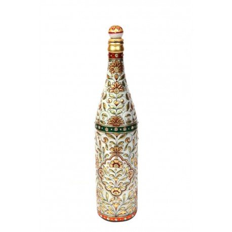 22ct Gold Paint Marble Decorative Bottle