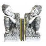 Metal Buddha Bookends