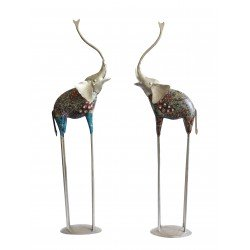 Decorative Painted Elephant Showpiece Pair