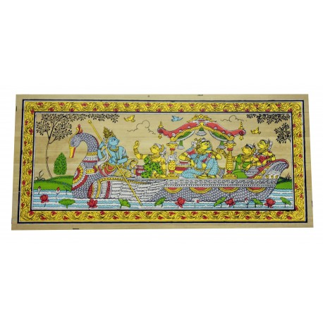 Odissha Pattachitra Painting on Palm Leaf