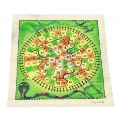 Handmade Cloth Snakes and Ladders Board Game