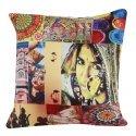 "Digital Printed Rajasthan Elements Print Cushion Cover 16 """