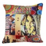 Digital Printed Rajasthan Elements Print Cushion Cover 16 ""