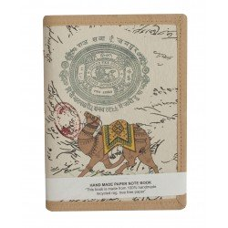 Handmade Old Stamp Paper Print Notebook Diary Camel Painting
