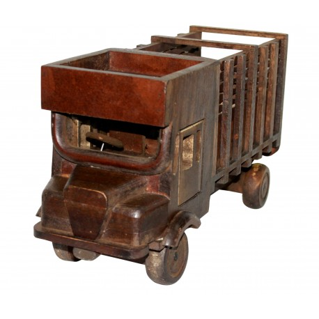 Wooden Vintage Antique Lorry Truck Shape Bottle/ Wine Bottle Holder