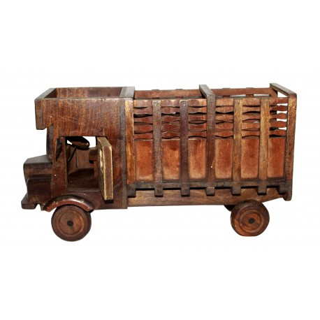 Wooden Vintage Antique Lorry Truck Shape Bottle/ Wine Bottle Holder